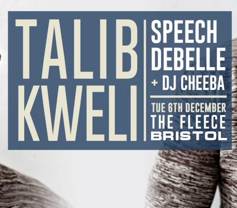 Talib Kweli / Speech Debelle / DJ Cheeba (DJ Set)